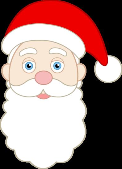 395x550 Face Clipart Santa Claus