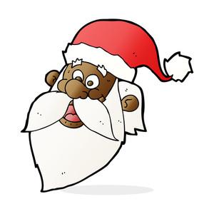 300x300 Laughing Cartoon Santa Claus Face Royalty Free Stock Image