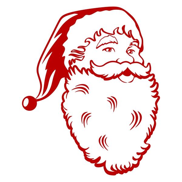 600x600 Santa Claus Face Cuttable Designs