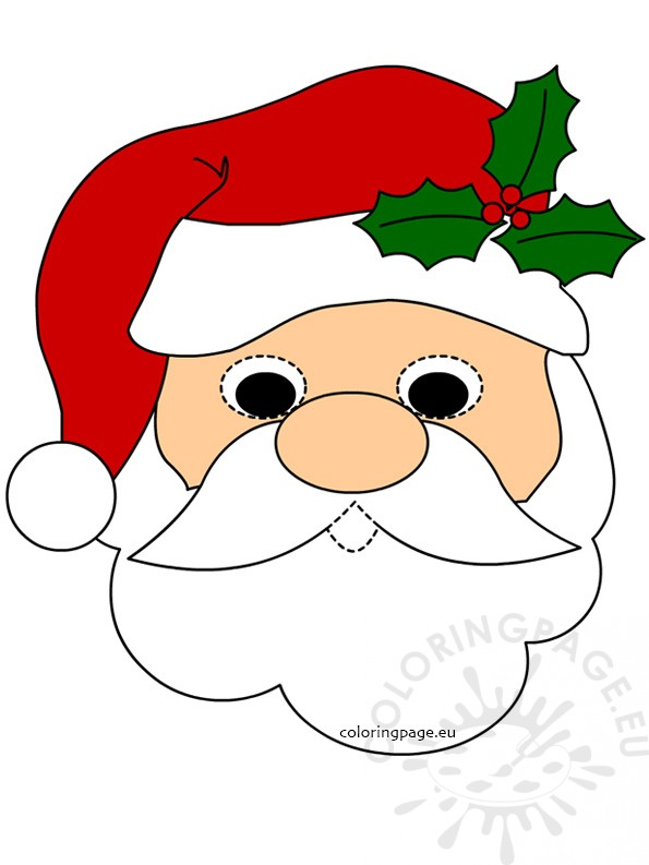 595x793 Santa Claus Face Mask Coloring Page