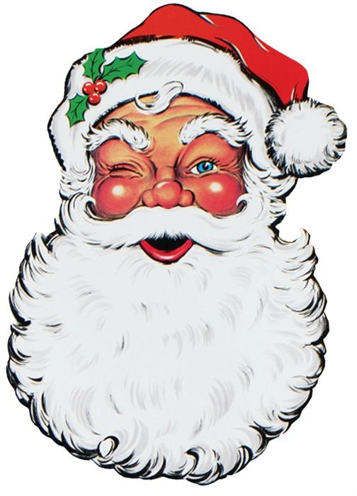504x700 26 Inch Display Santa Face Cutout
