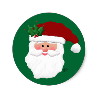 324x324 Santa Claus Face Stickers Zazzle