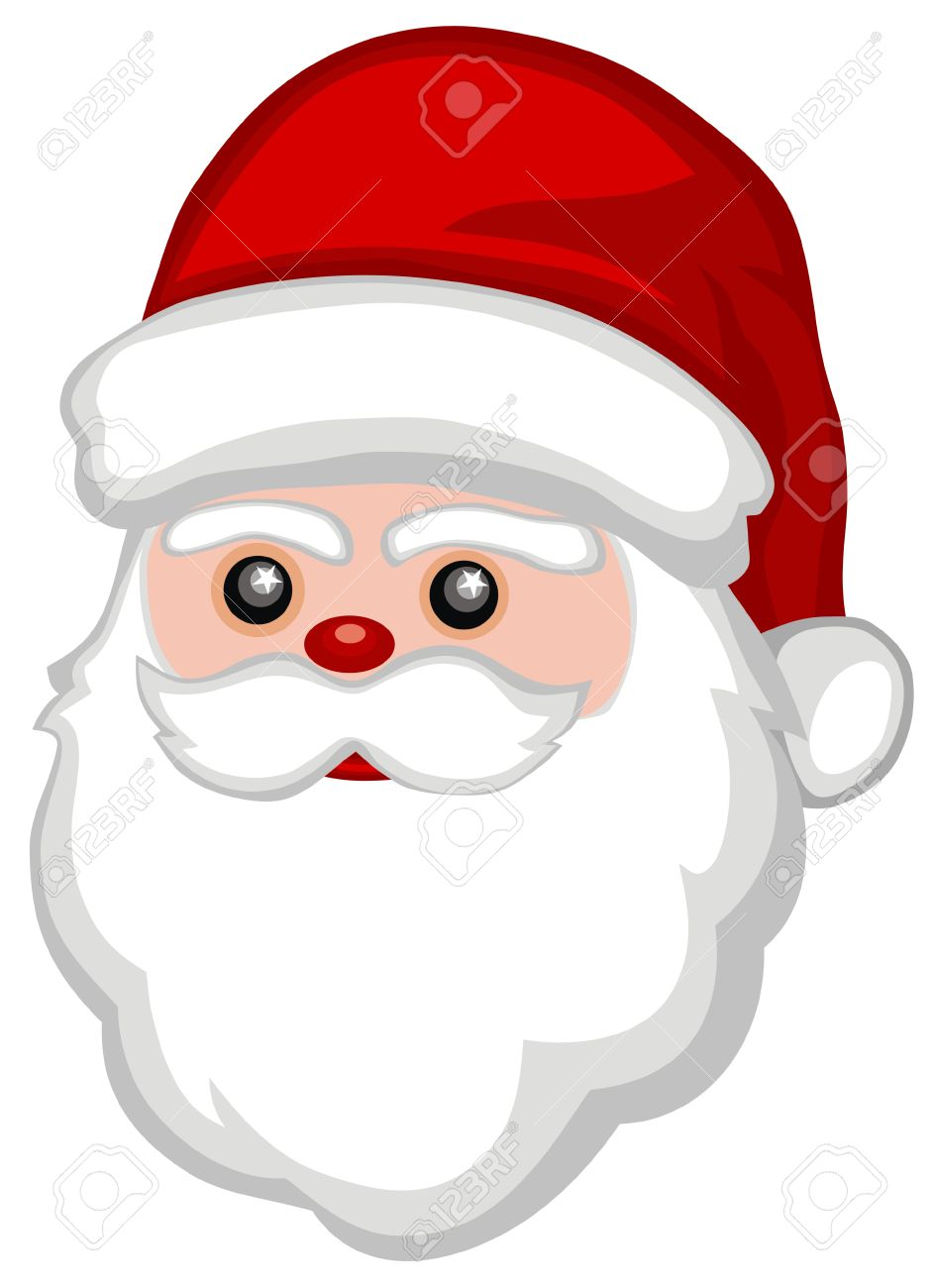 943x1300 Santa Claus Face. Stock Photo Vector Illustration Santa Claus