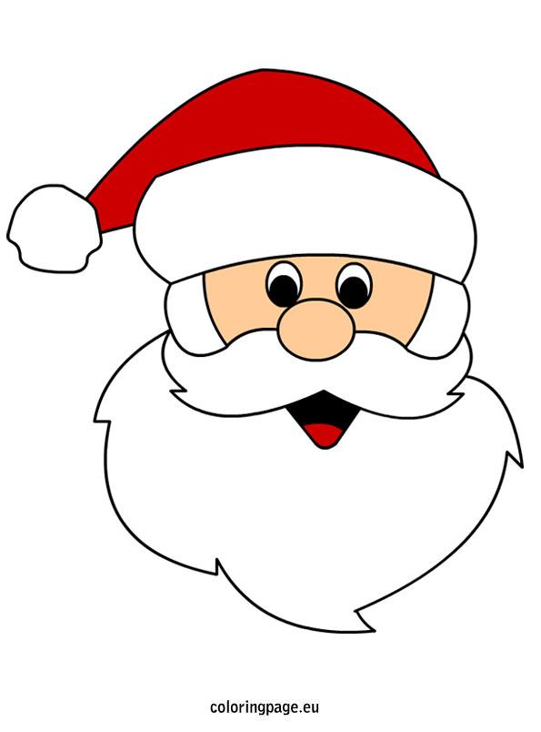 595x804 Santa Claus Face Coloring Page Cricut Santa