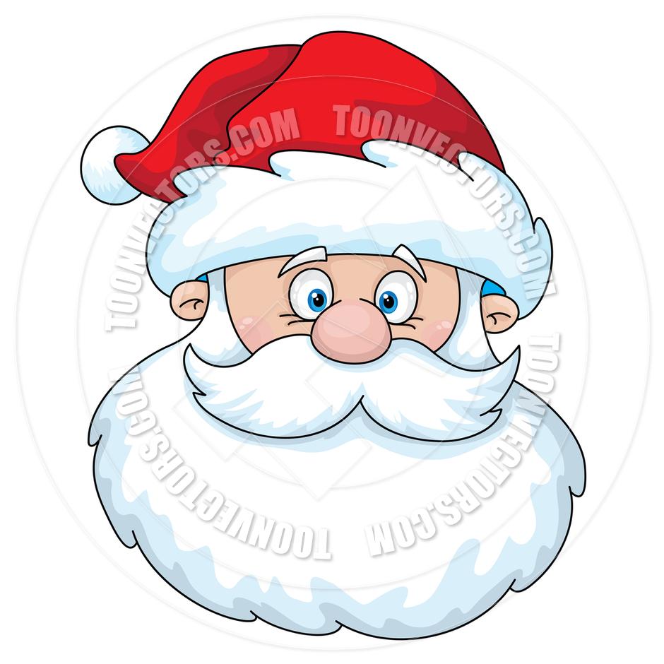 940x940 Santa Face Clip Art