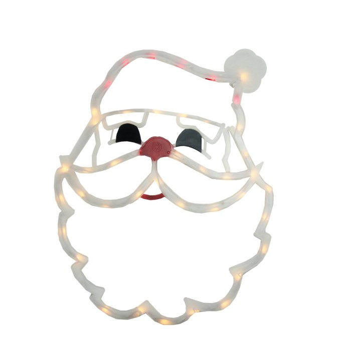 700x700 The Holiday Aisle Lighted Santa Claus Face Christmas Window