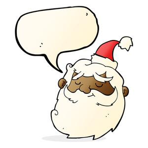 300x300 Cartoon Santa Claus Face Royalty Free Stock Image