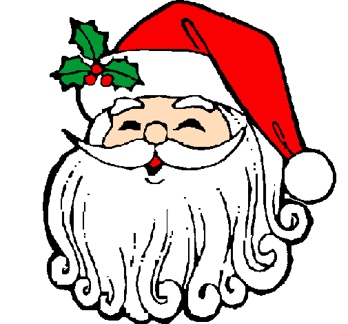 505x470 Colored Page Santa Claus Face Painted By Geo