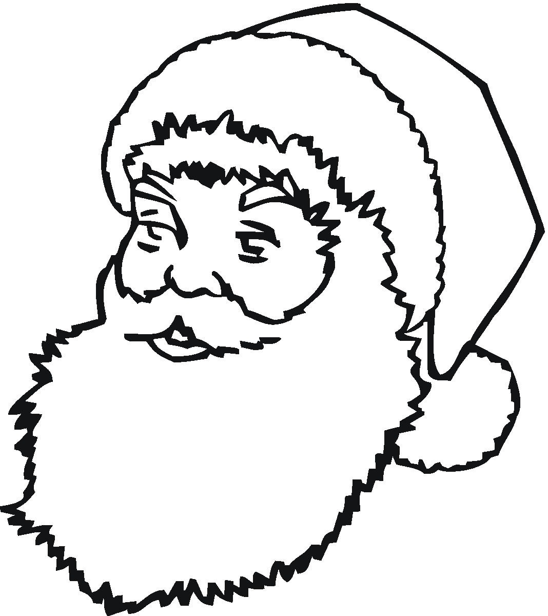 1068x1200 santa claus face coloring page