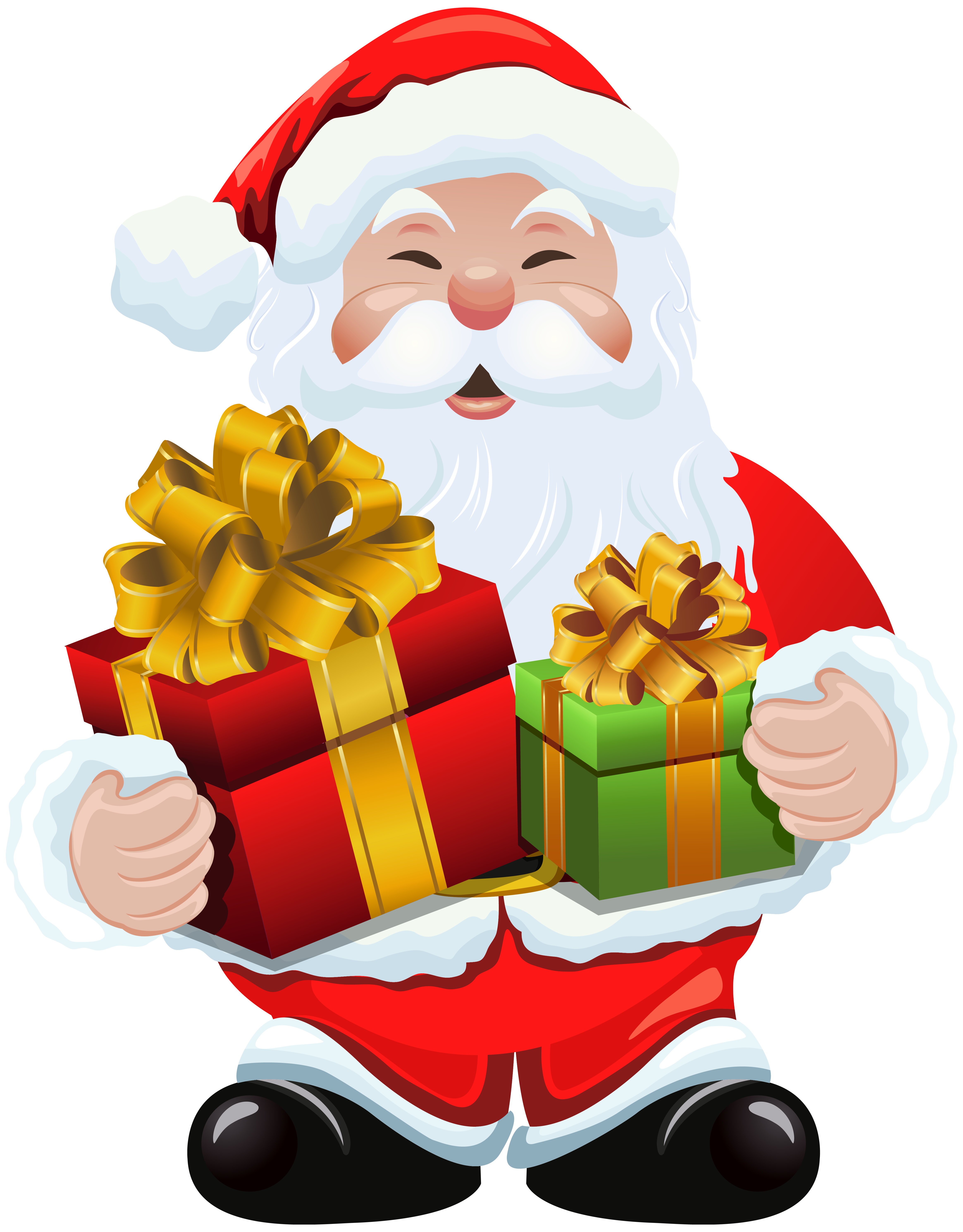 a86a8c2759bde 4659x5959 Santa Claus With Gifts Clipart