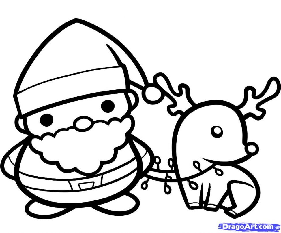 Santa Coloring Pages | Free download on ClipArtMag
