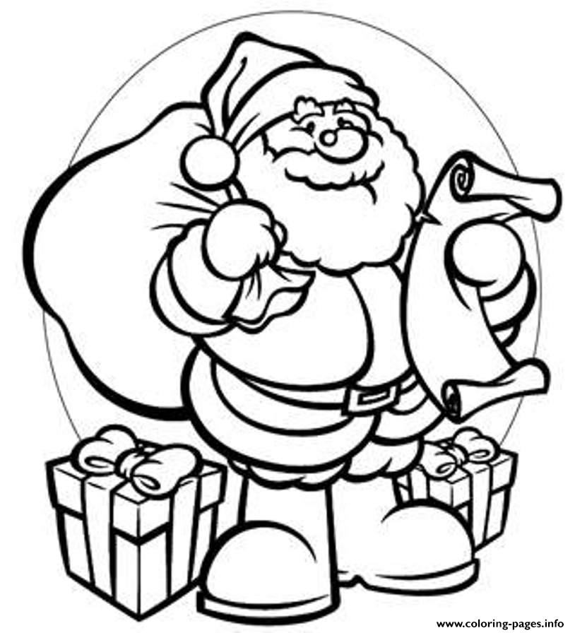 814x896 gifts santa 944b coloring pages printable