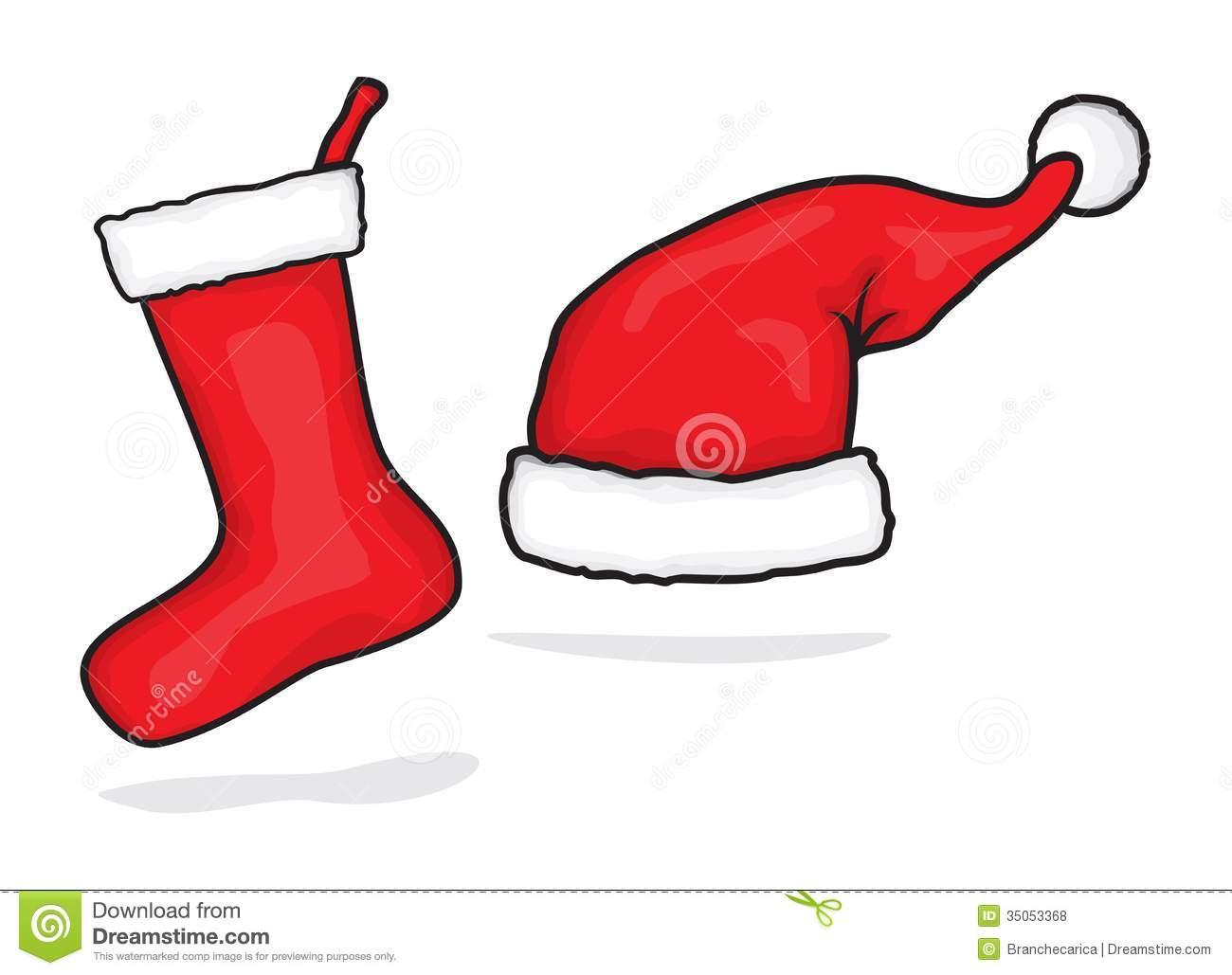 1300x1029 Santa Hat Christmas Stocking Clip Art Merry Christmas Amp Happy