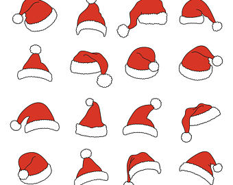 340x270 Santa Hat Svg Clipart Christmas Santa Claus Hat Clip Art Santa
