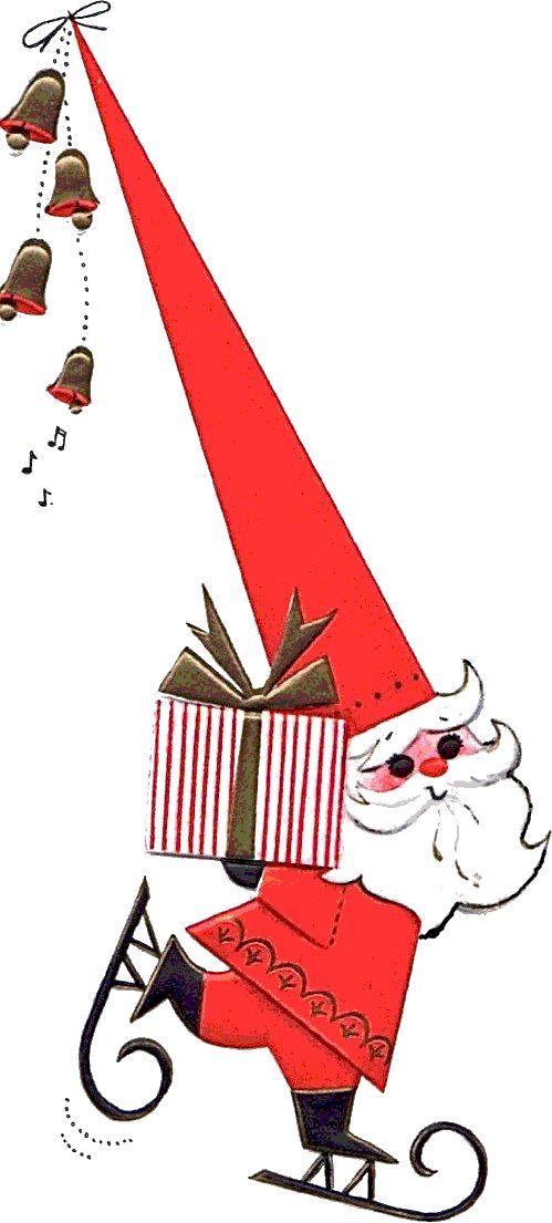Santa Mittens Clipart