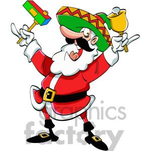 300x300 Mexican Santa Claus Cartoon