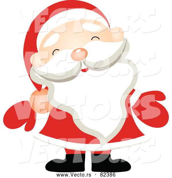 600x620 Vector Of Santa Claus Wearing Red Mittens By Onfocusmedia