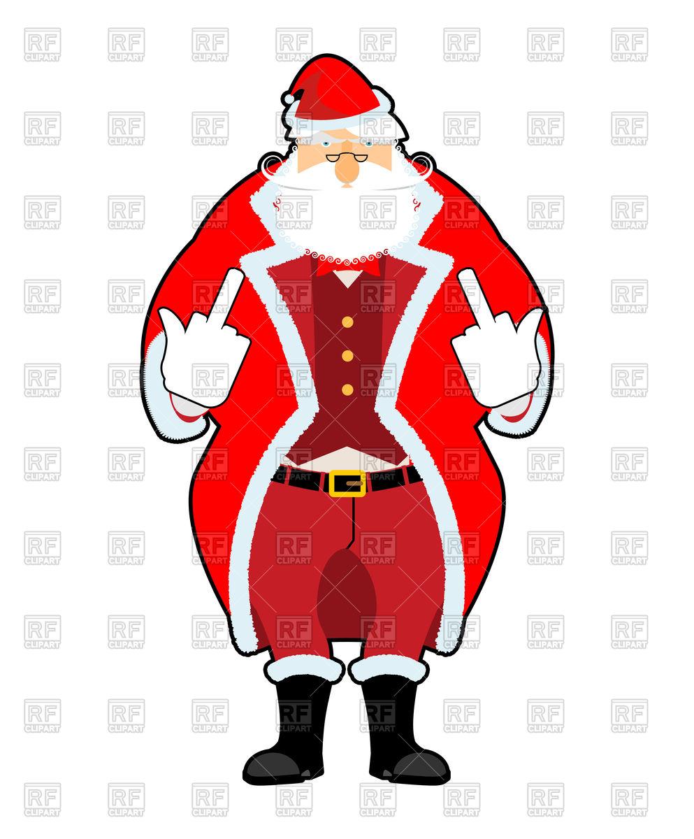 993x1200 Bad Santa Shows To Fuck Royalty Free Vector Clip Art Image