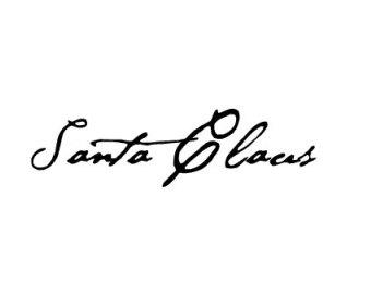 340x270 Free Santa Claus Signature Clipart