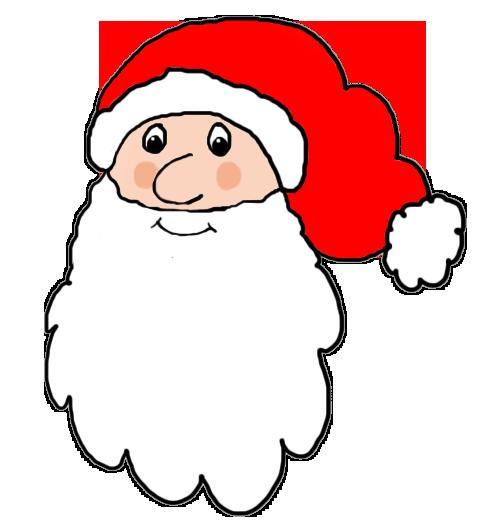 490x532 Santa Claus Head Clipart