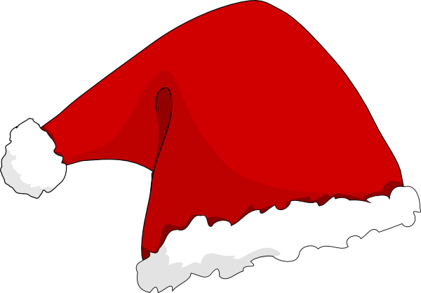 600x417 Santa Hat Clip Art
