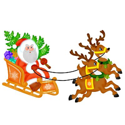 Santa Sled Cliparts