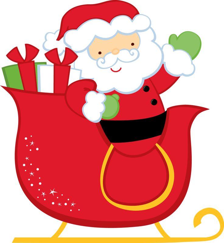 Santa Sleigh Clipart