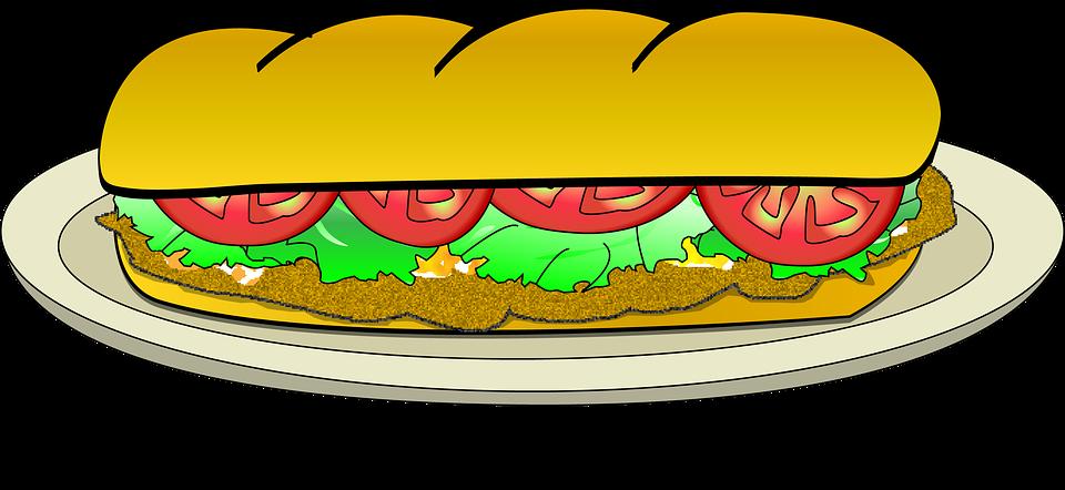 960x442 Sandwich Clipart Baguette