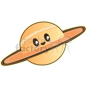 300x300 Royalty Free Saturn Cartoon Character Illustration 394200 Vector