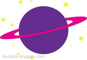 300x207 Clipart Illustration Of The Planet Saturn