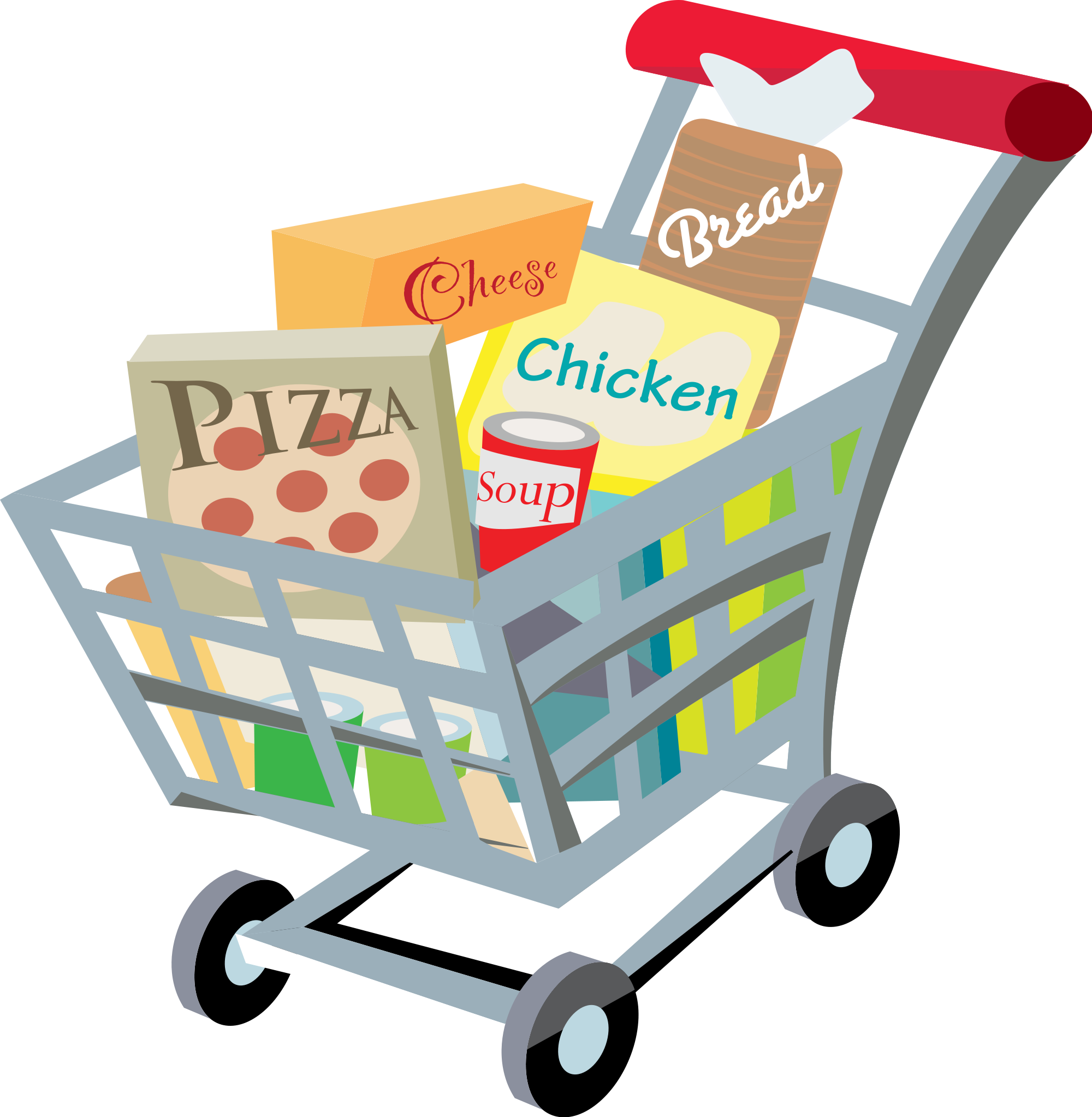 2000x2046 Fileshopping Cart With Food Clip Art 2.svg