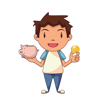 Money kid. Save clipart free download