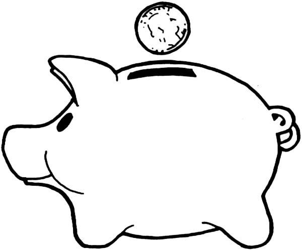 600x498 Piggy Bank Clipart Kids Saving