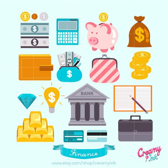 570x570 Save Money Digital Vector Clip Art Finance Clipart Design