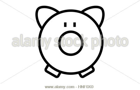 450x290 Symbol Save Money Pig Icon, Vector Illustration Image Stock Vector
