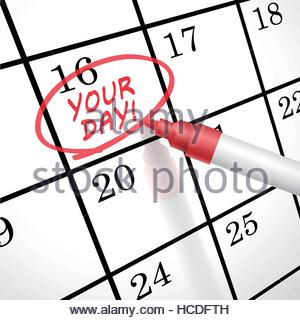 300x320 Save The Date Marked On Calendar Stock Photo, Royalty Free Image