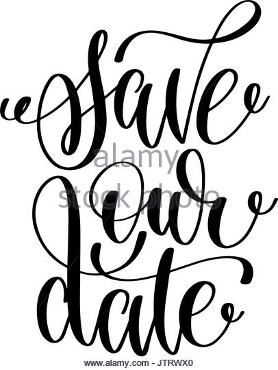 406x540 Save Date Black White Hand Stock Photos Amp Save Date Black White