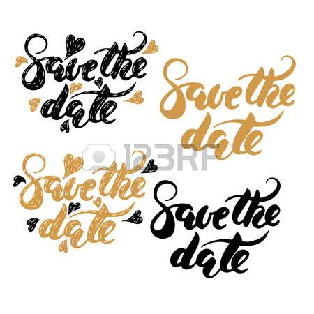 450x450 5,212 Save The Date Lettering Stock Illustrations, Cliparts