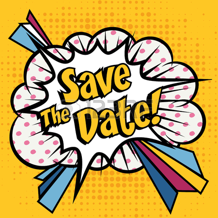 450x450 Save The Date Pop Art Royalty Free Cliparts, Vectors, And Stock