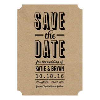 324x324 Kraft Paper Save The Date Invitations Amp Announcements Zazzle