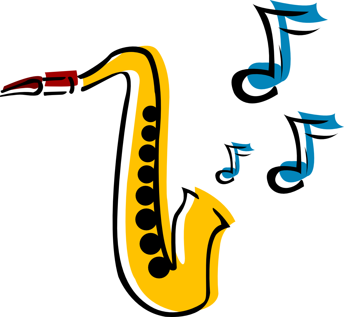 Saxophone Black And White | Free download best Saxophone Black And ...