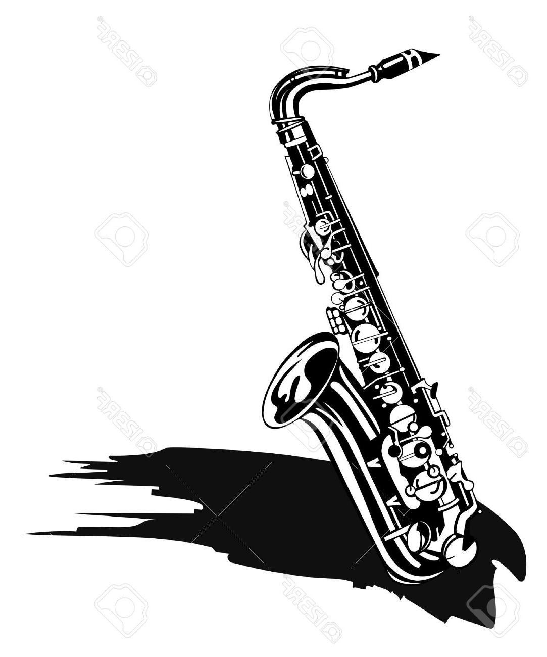 Saxophone Black And White Free Download Best Saxophone