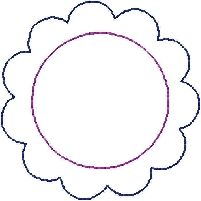 700x699 Circle Clipart Scalloped Circle