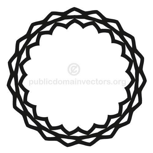 500x500 3083 Free Scalloped Circle Border Clip Art Public Domain Vectors
