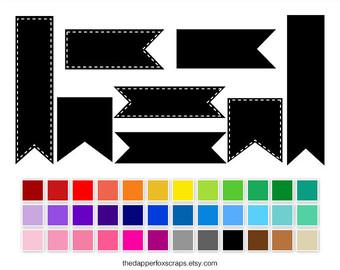 340x270 Rainbow Polka Dot Scalloped Border Digital Clip Art Instant