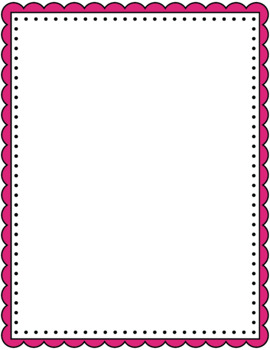 270x350 Scalloped Borders And Frames Clip Art