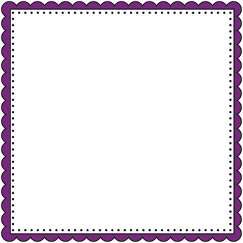 350x350 Scalloped Borders And Frames Clip Art