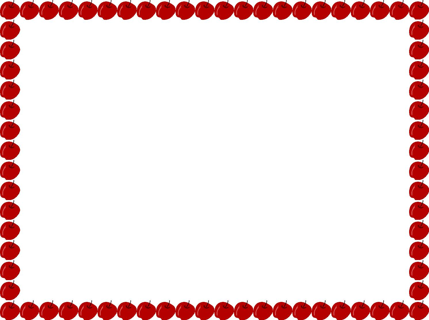 1491x1115 Apple Border Clip Art 3