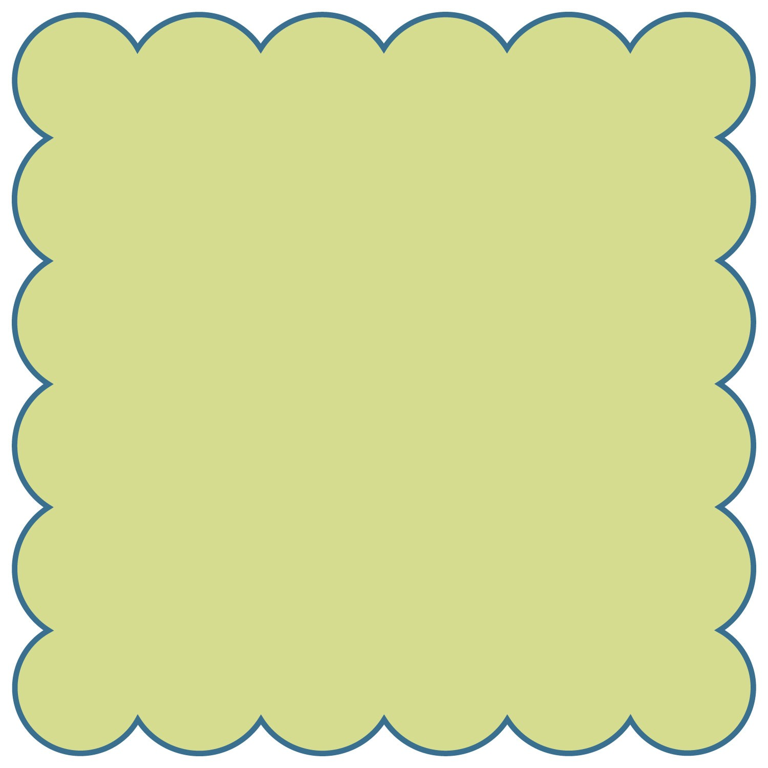 1500x1500 Squares Clipart Scalloped Edge