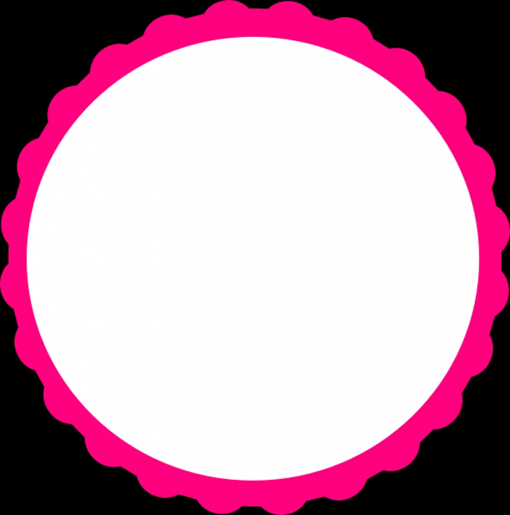 1013x1024 Pink Scallop Circle Frame Clip Art